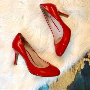Vince Camuto Red Leather Heels